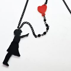 COLLANA LUNGA BANKSY BALLOON GIRL